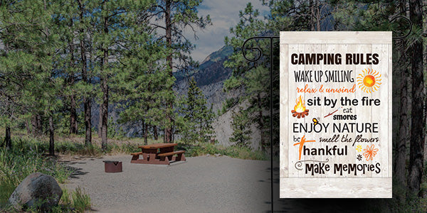 Pick your favorite campsite saying