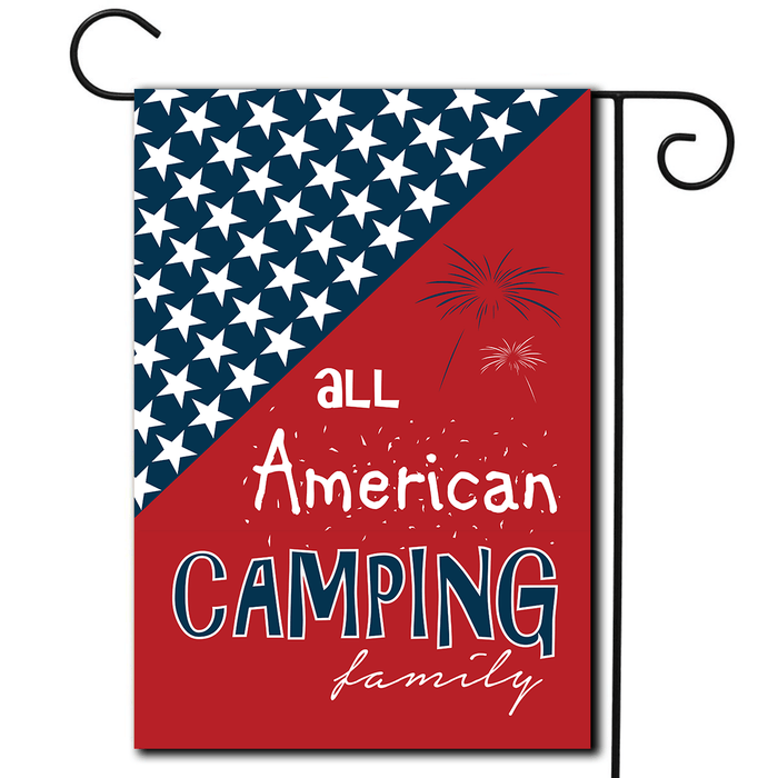 "Camping Holiday Flag ""All American Camping Family"""