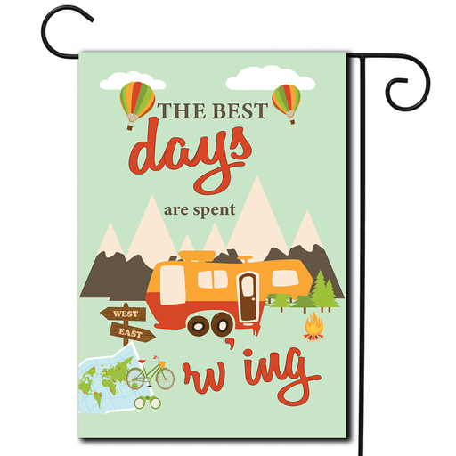 "RV Garden Flag 5th Wheel ""The Best Days Are Spent Rv'ing"""