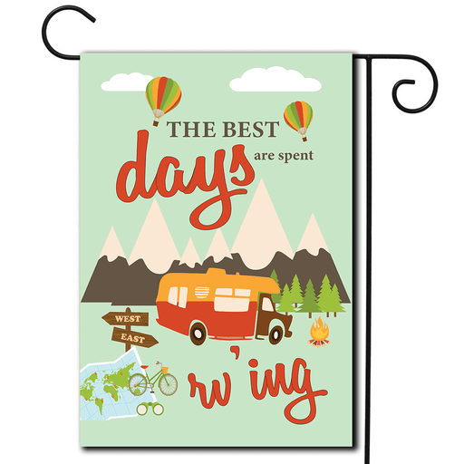"RV Decorative Flag Class C ""The Best Days Are Spent Rv'ing"""