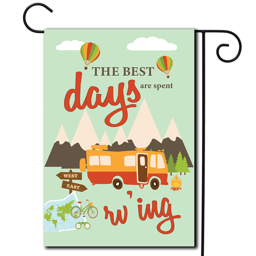"RV Campsite Flag Motorhome ""The Best Days Are Spent Rv'ing"""