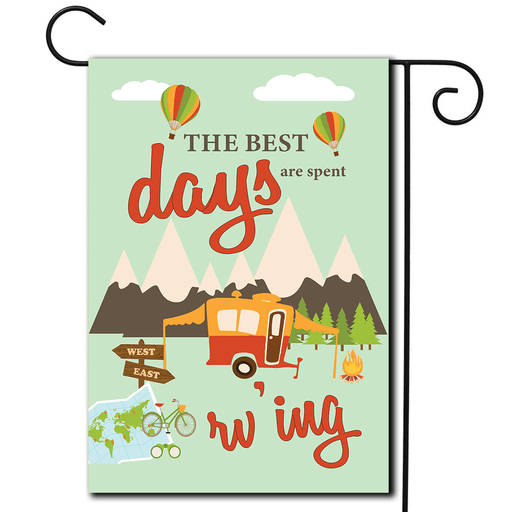 "RV Yard Flag Pop Up ""The Best Days Are Spent Rv'ing"""