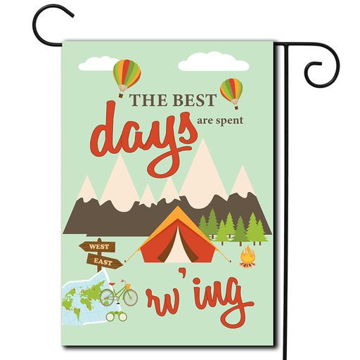 "RV Outdoor Flag Tent ""The Best Days Are Spent RV'ing"""