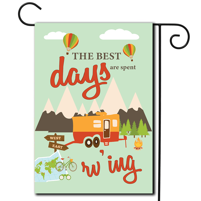 "RV Camping Flag Toy Hauler ""The Best Days Are Spent RV'ing"""