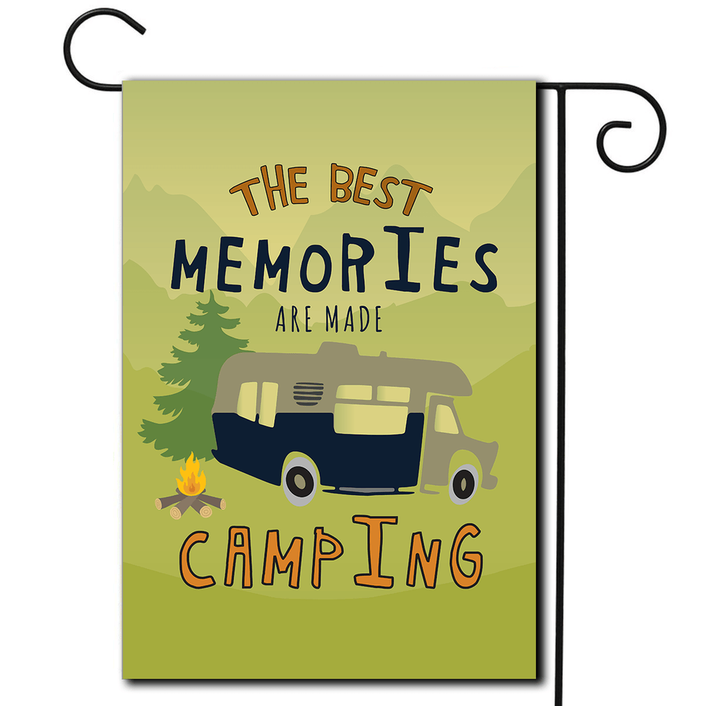 "RV Decorative Flag Class C ""The Best Memories Are Made Camping"""