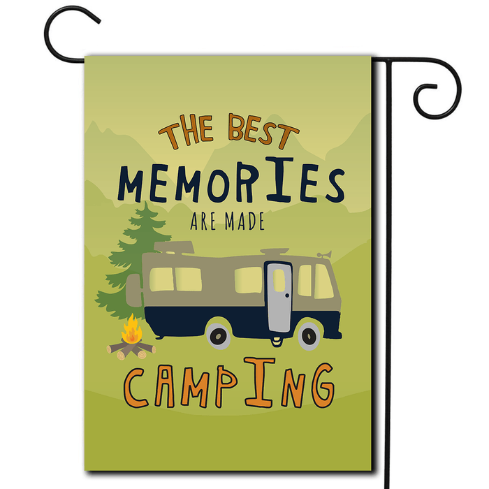"RV Decorative Flag Motorhome ""The Best Memories Are Made Camping"""