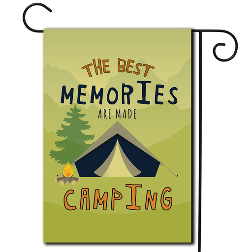 "Outdoor Flag Tent ""The Best Memories Are Made Camping"""