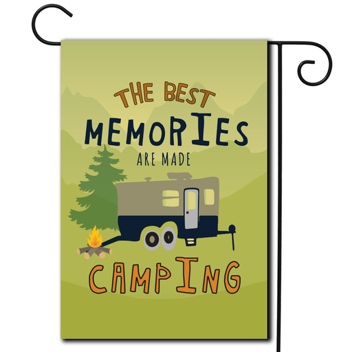 "RV Yard Flag Toy Hauler ""The Best Memories Are Made Camping"""