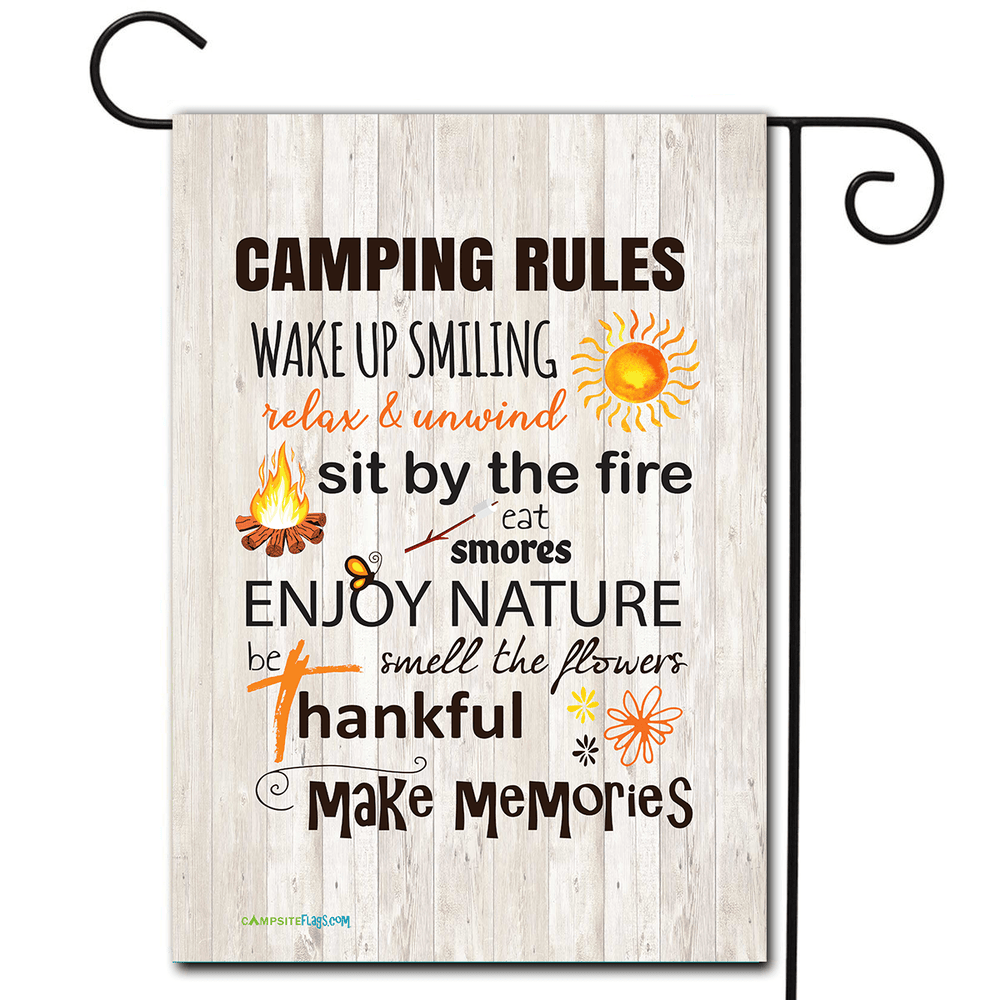 "Campsite Flag ""Camping Rules"""