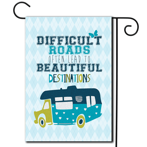 "RV Campsite Flag Class C ""Difficult Roads"""