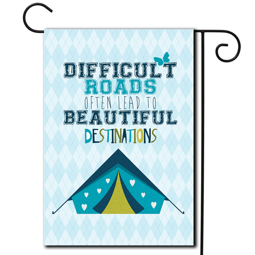 "Decorative Flag Tent ""Difficult Roads"""