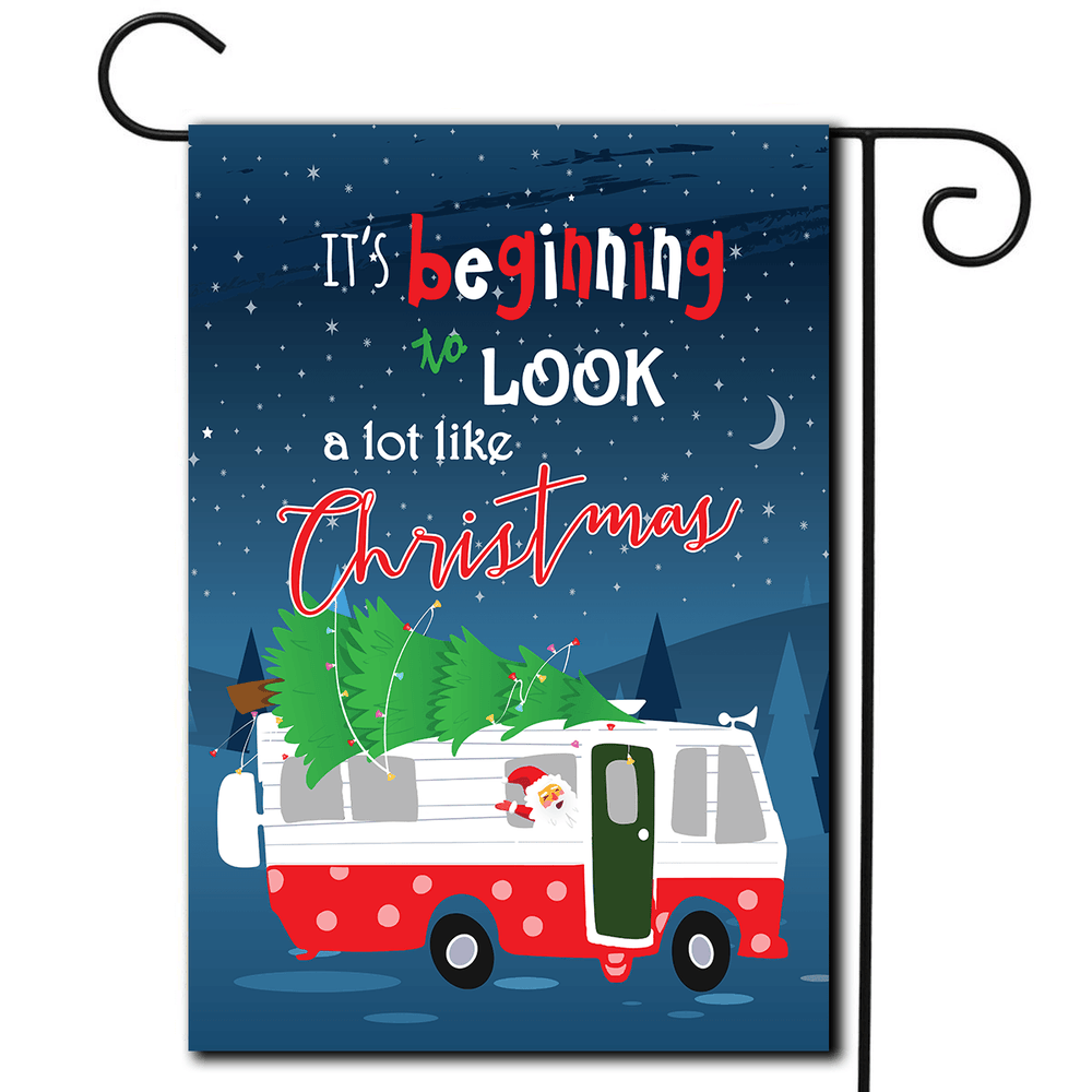 "RV Decorative Flag Motorhome ""It's Beginning To Look A Lot Like Christmas"""