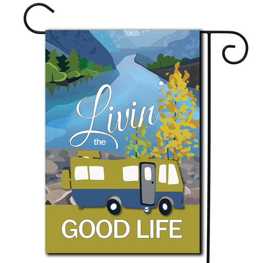 "RV Decorative Flag Motorhome ""Livin' The Good Life"""