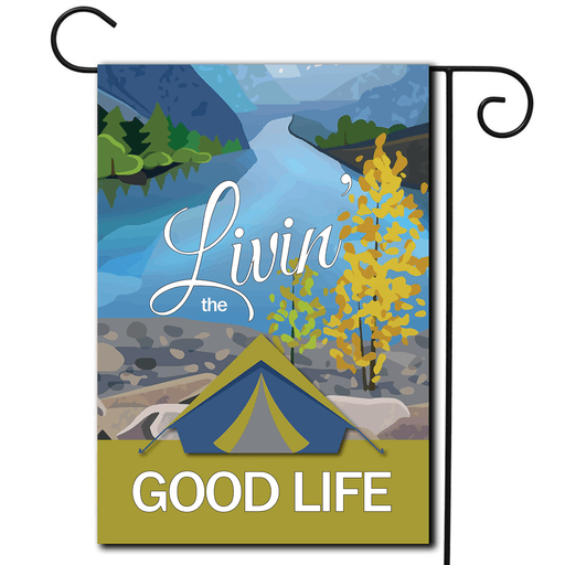 "RV Outdoor Flag Tent ""Livin' The Good Life"""