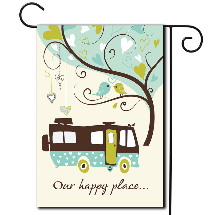 "RV Yard Flag Motorhome ""Our Happy Place"""