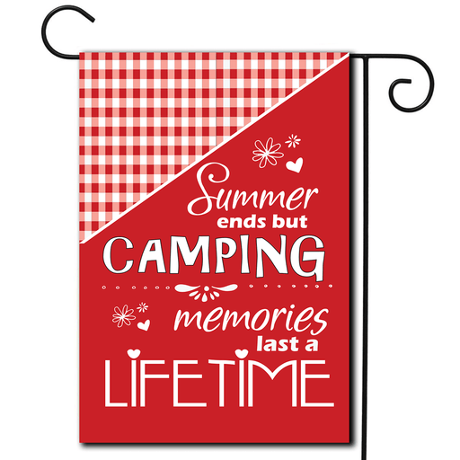 "Campsite Flag ""Summer Ends But Camping Memories Last A Lifetime"""