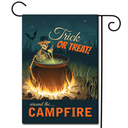 "Halloween Campsite Flag ""Trick Or Treat Around The Campfire"""
