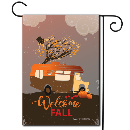 "RV camping Flag Class C ""Welcome Fall"""