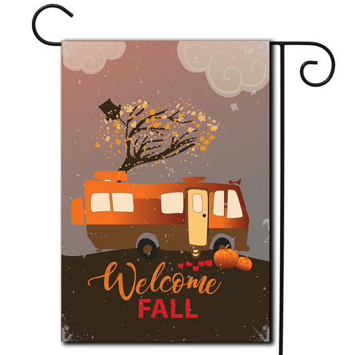 "RV Camping Flag Motorhome ""Welcome Fall"""