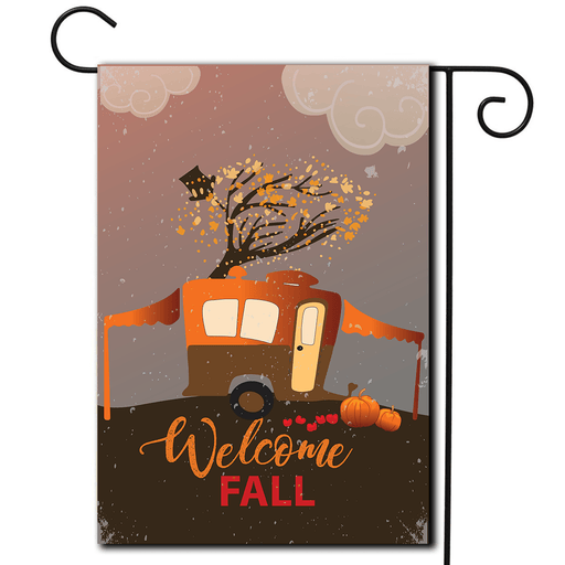 "RV Camping Flag Pop Up ""Welcome Fall"""