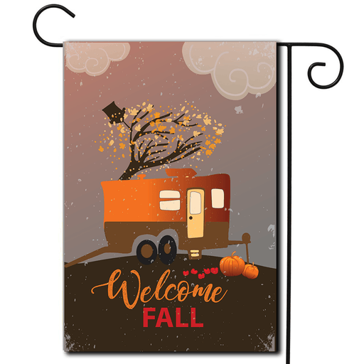 "RV Camping Flag Toy Hauler ""Welcome Fall"""