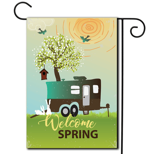 "Garden Flag Toy Hauler ""Welcome Spring"""