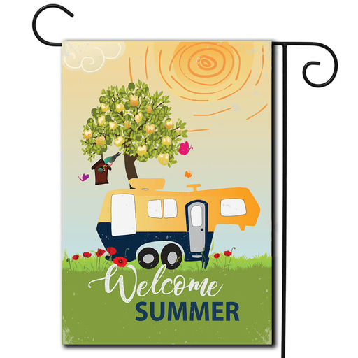 "RV Decorative Flag 5th Wheel ""Welcome Summer"""