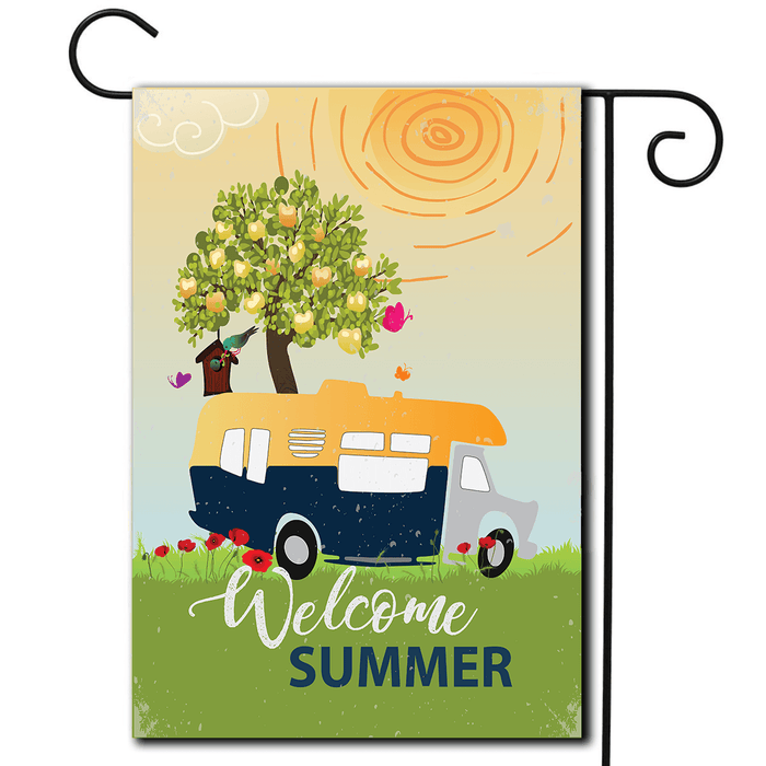 "RV Decorative Flag Class C ""Welcome Summer"""
