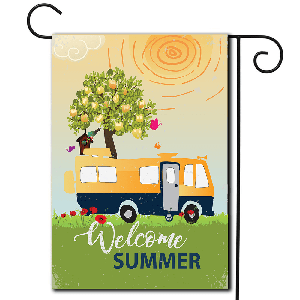 "RV Decorative Flag Motorhome ""Welcome Summer"""