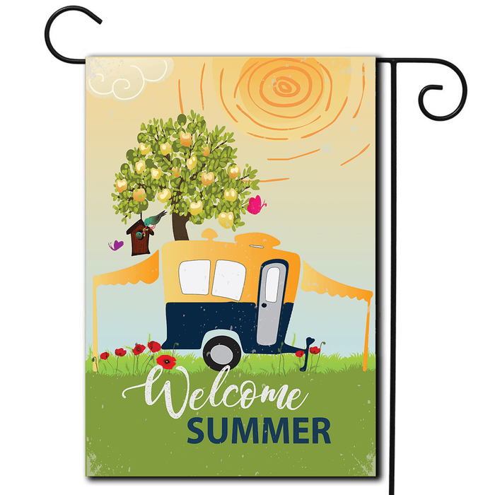 "RV Decorative Flag Pop Up ""Welcome Summer"""