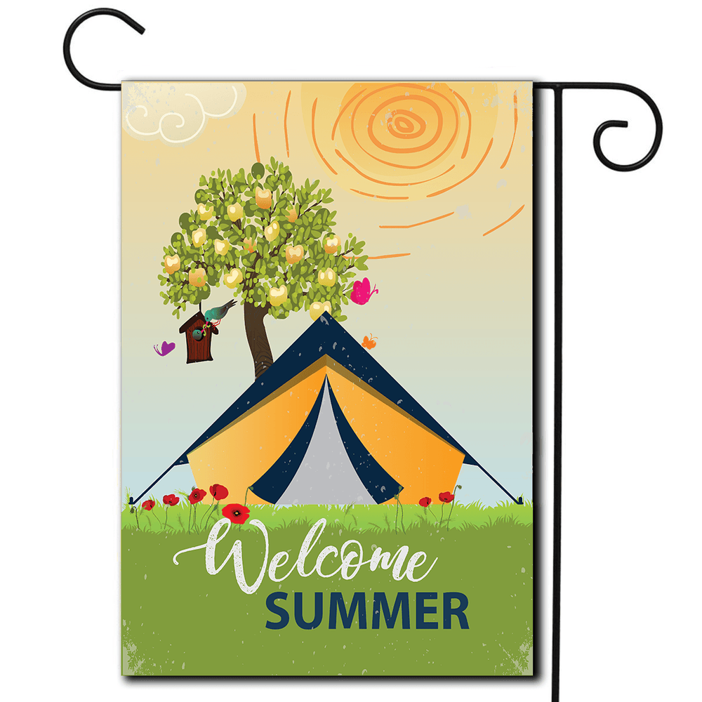 "Tent Decorative Flag ""Welcome Summer"""