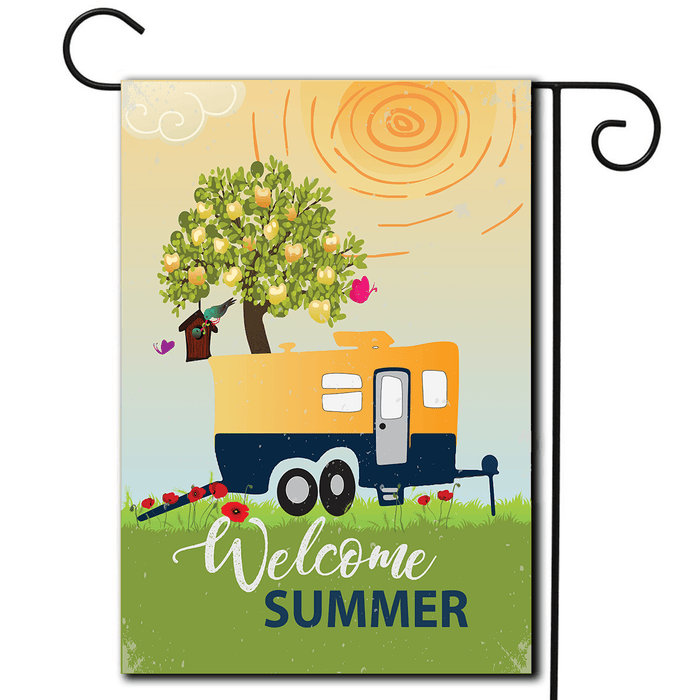 "RV Decorative Flag Toy Hauler ""Welcome Summer"""