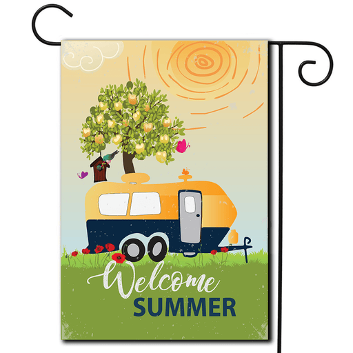 "RV Decorative Flag Travel Trailer ""Welcome Summer"""