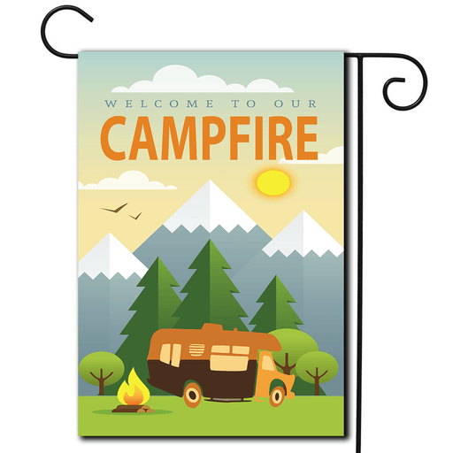 "RV Campsite Flag Class C ""Welcome To Our Campfire"""