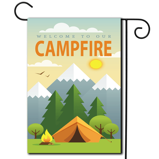 "RV Garden Flag Tent ""Welcome To Our Campfire"""