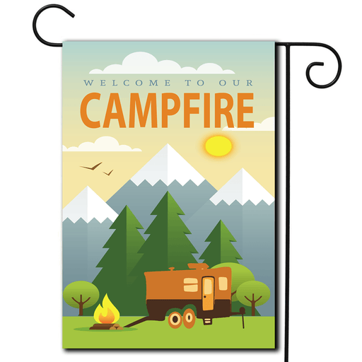 "RV Camping Flag Toy Hauler ""Welcome To Our Campfire"""