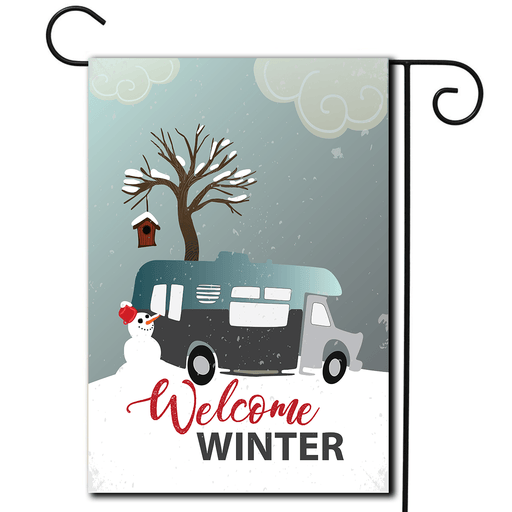 "RV Campsite Flag Class C ""Welcome Winter"""