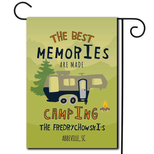 "Personalized RV Camping Flag ""The Best Memories Are Made Camping"""