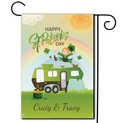 "Personalized Holiday Flag ""Happy St Patrick's Day"""