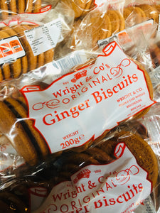 Wrights Ginger biscuits