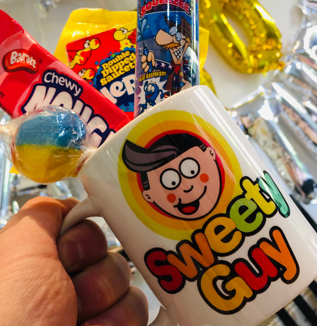 Sweety Guy Mug with sweets
