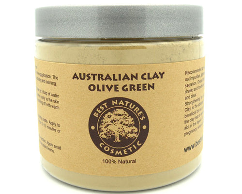 Australian Olive Green Clay. Face Mask. Body wrap.