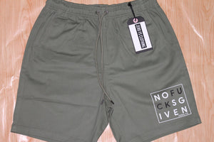 No Fucks Given Walk Shorts