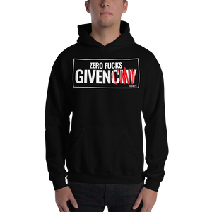 Unisex Zero Fucks Given Hoodie - Black - Zero Fs Clothing