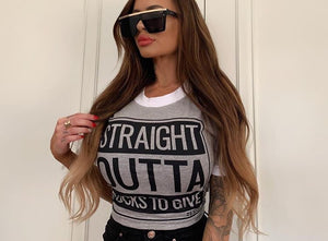 Straight Outta Fucks To Give Crop Tee