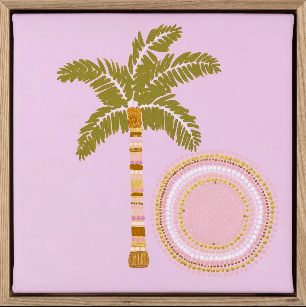 Sun Palm (Framed Print)