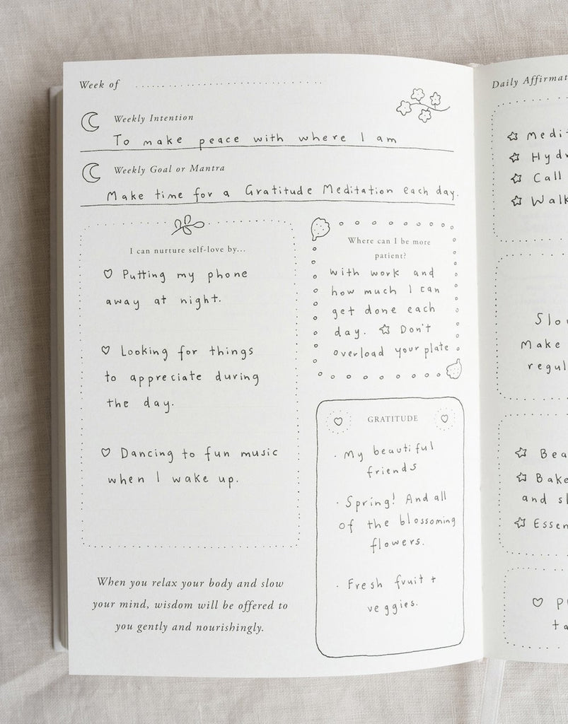 ☆ A Year of Coming Home ' Guided Self-Love Journal