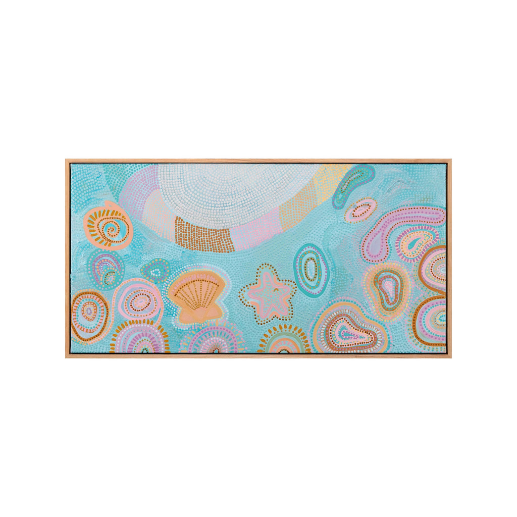 Mermaid waters II (Framed Print)