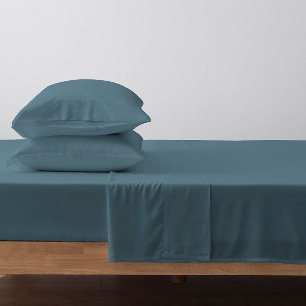 100% Organic Bamboo Lyocell Bed Sheet Set - Dusty Blue