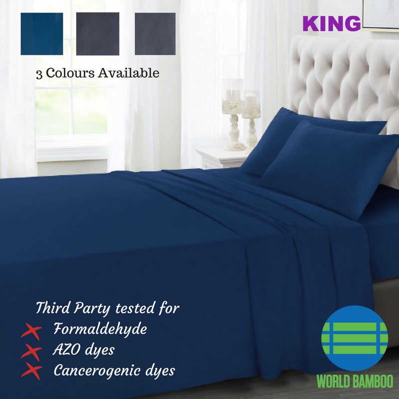 100% Organic Bamboo Bed Sheet Set 400 TC - King